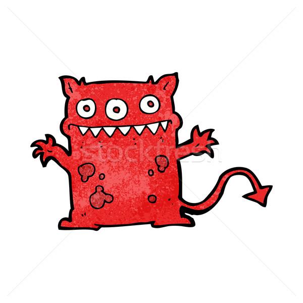 Karikatur wenig Monster Hand Design crazy Stock foto © lineartestpilot