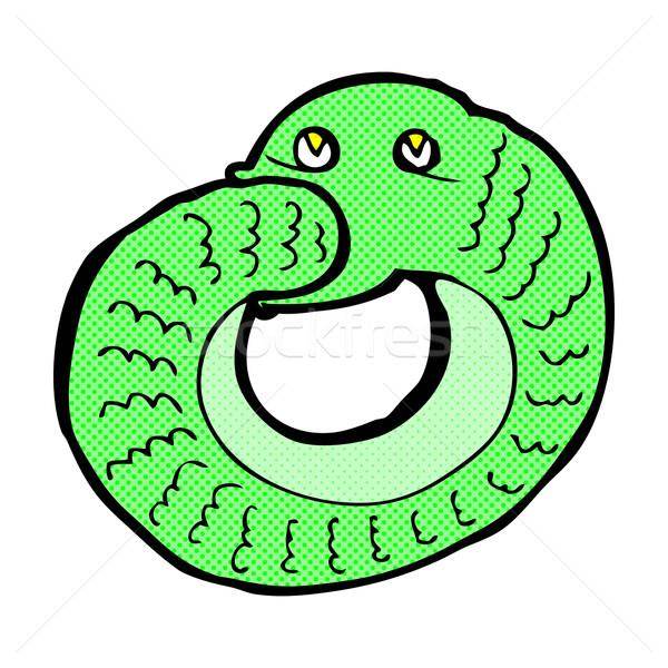 コミック 漫画 ヘビ 食べ 独自の 尾 ストックフォト © lineartestpilot