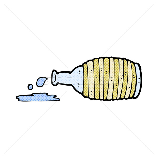 comic cartoon spilled bottle Stock photo © lineartestpilot
