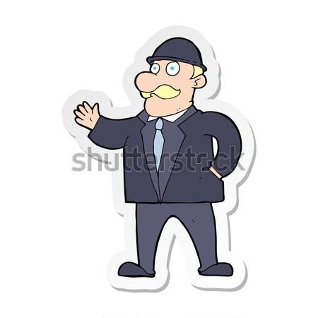 комического Cartoon деловой человек ретро Сток-фото © lineartestpilot