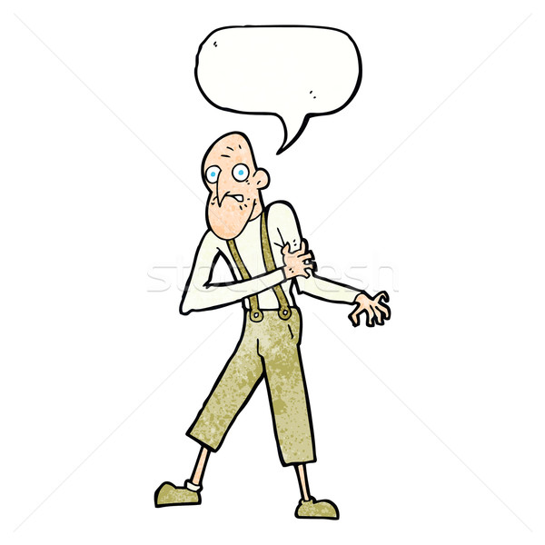 cartoon old man having heart attack with speech bubble Stock photo © lineartestpilot
