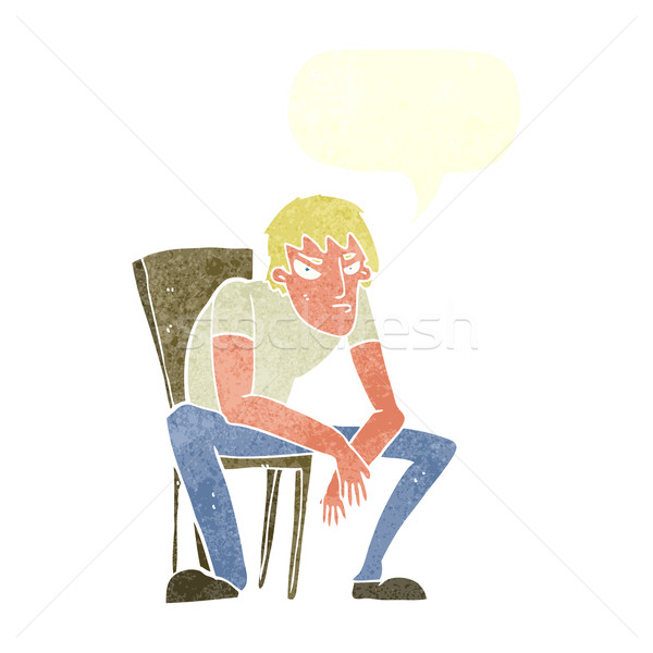cartoon dejected man with speech bubble Stock photo © lineartestpilot