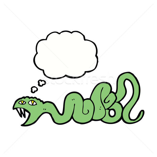 cartoon snake with thought bubble Stock photo © lineartestpilot