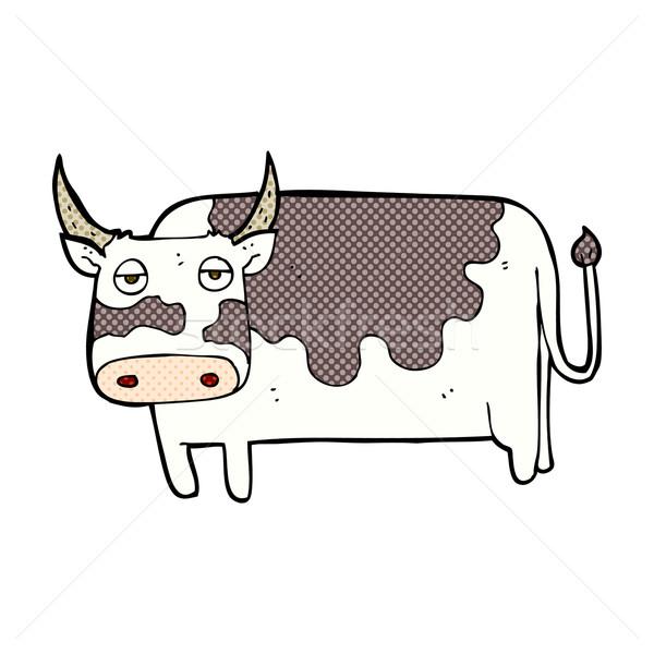 Cómico Cartoon vaca retro estilo Foto stock © lineartestpilot