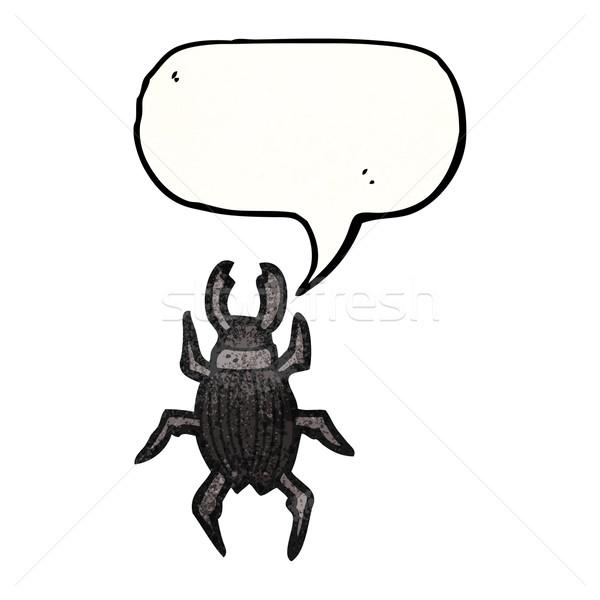 Gigante bug cartoon texture mano felice Foto d'archivio © lineartestpilot