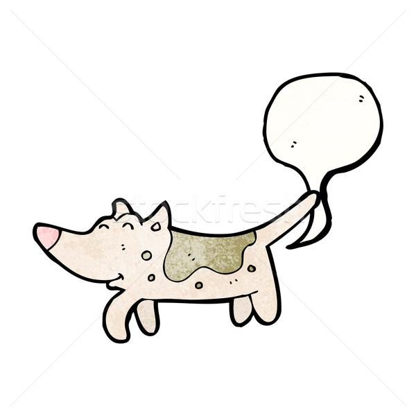 Köpek Karikatür Konuşma Retro çizim Sevimli Vektör