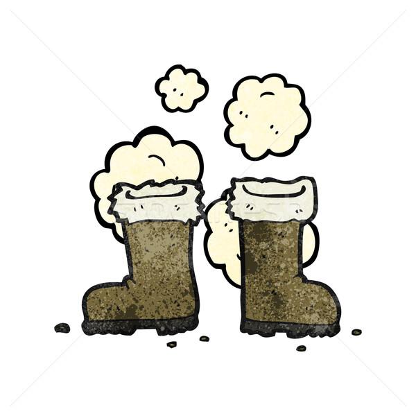 cartoon winter boots Stock photo © lineartestpilot
