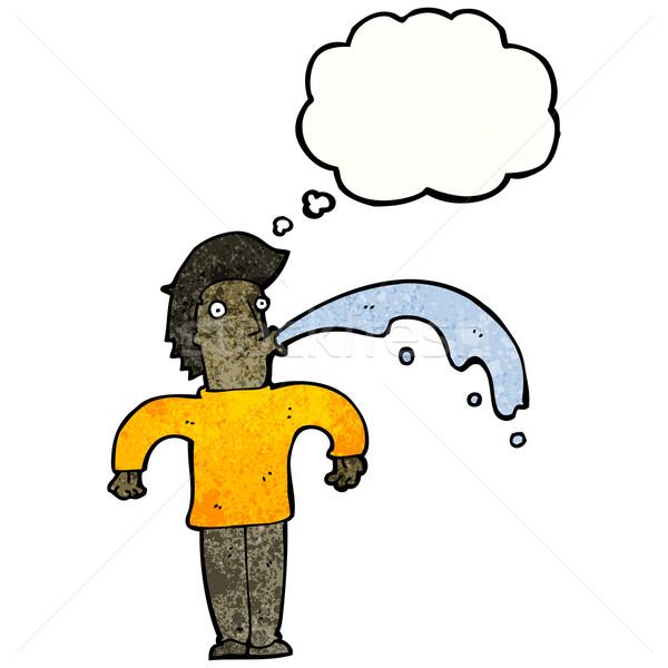 Cartoon man water retro textuur geïsoleerd Stockfoto © lineartestpilot