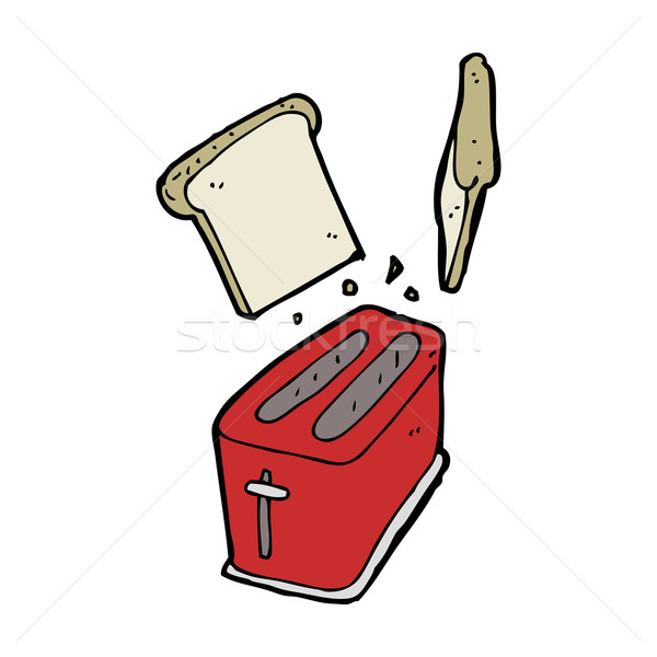 cartoon toaster spitting out bread Stock photo © lineartestpilot