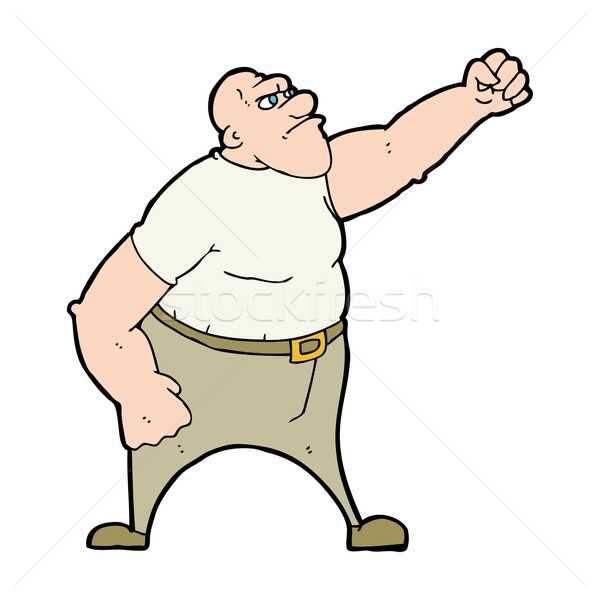 cartoon angry man Stock photo © lineartestpilot