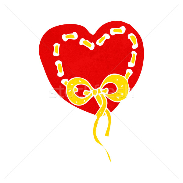 stitched heart cartoon Stock photo © lineartestpilot