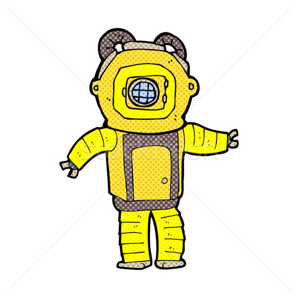 comic cartoon deep sea diver  Stock photo © lineartestpilot