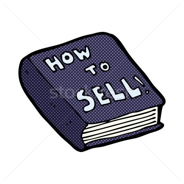comic cartoon how to sell book Stock photo © lineartestpilot