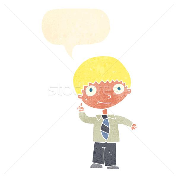 漫画 男子生徒 アイデア 吹き出し 手 デザイン ストックフォト © lineartestpilot