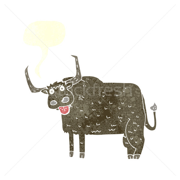 Cartoon peloso mucca fumetto mano design Foto d'archivio © lineartestpilot