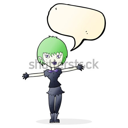 cartoon impressed boy pointing with speech bubble Stock photo © lineartestpilot