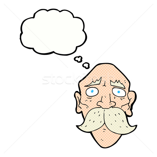 Cartoon Sad Old Man With Thought Bubble Vector Illustration C Lineartestpilot 5300602 Stockfresh