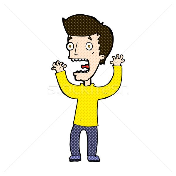 comic cartoon frightened man Stock photo © lineartestpilot
