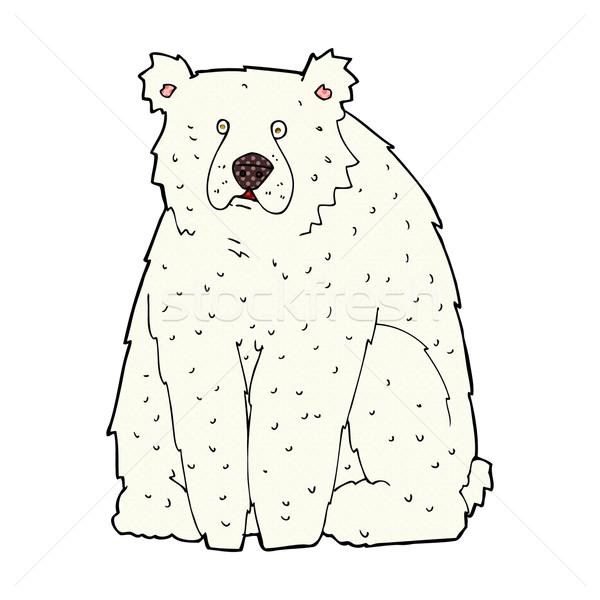 Képregény rajz vicces jegesmedve retro képregény Stock fotó © lineartestpilot