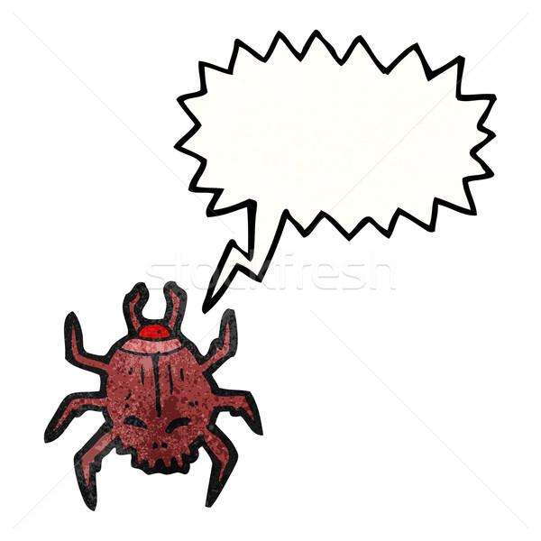 śmierci oglądać beetle cartoon tekstury strony Zdjęcia stock © lineartestpilot