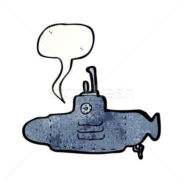 Cartoon podwodny tekstury strony szczęśliwy rysunek Zdjęcia stock © lineartestpilot