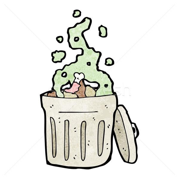 старые мусорный ящик Cartoon ретро рисунок мусора Сток-фото © lineartestpilot