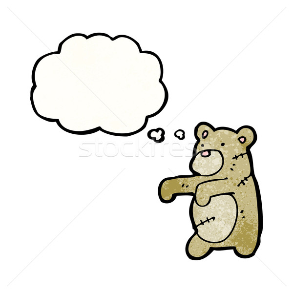 cartoon teddy bear stitched up Stock photo © lineartestpilot
