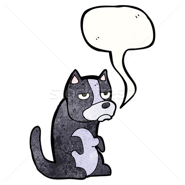 Grincheux cartoon chien art rétro dessin Photo stock © lineartestpilot