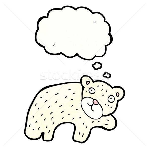 Desenho animado urso polar retro desenho bonitinho ilustração Foto stock © lineartestpilot
