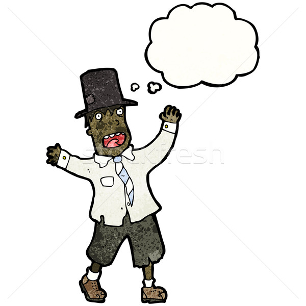 cartoon man in rags and top hat Stock photo © lineartestpilot