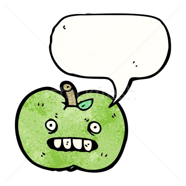 Rajz csúnya alma gyümölcs retro rajz Stock fotó © lineartestpilot
