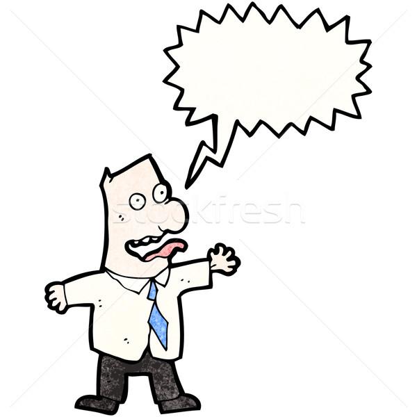 Desenho animado insano patrão retro desenho louco Foto stock © lineartestpilot