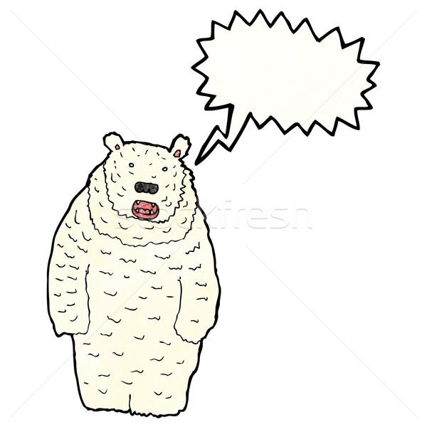 roaring polar bear cartoon Stock photo © lineartestpilot