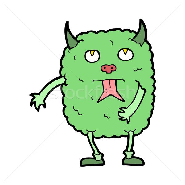 Funny Karikatur Monster Hand Design crazy Stock foto © lineartestpilot
