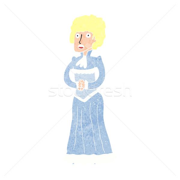 cartoon shocked victorian woman Stock photo © lineartestpilot