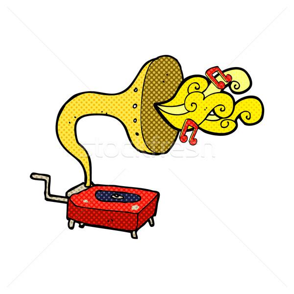 comic cartoon gramophone Stock photo © lineartestpilot