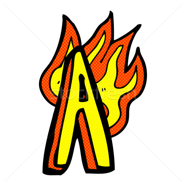 comic cartoon flaming letter Stock photo © lineartestpilot