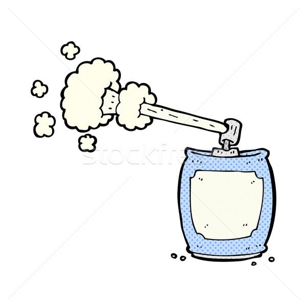 comic cartoon aerosol spray can Stock photo © lineartestpilot
