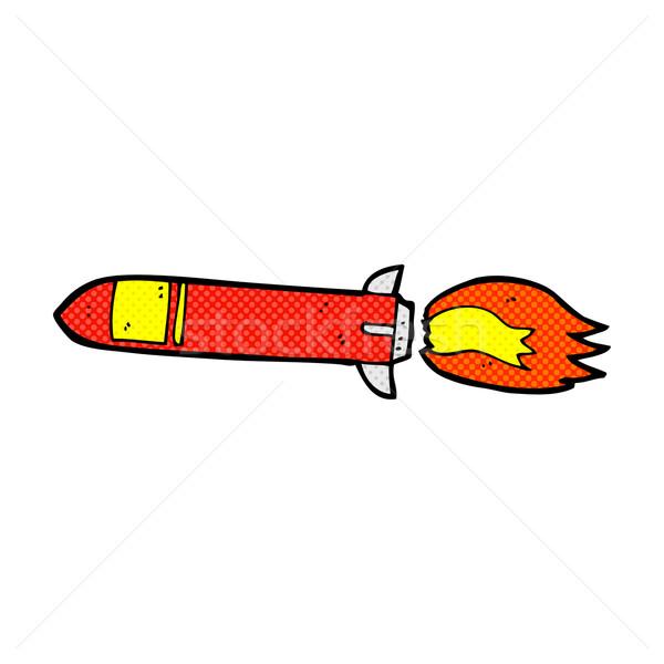 Fumetto cartoon missile retro stile Foto d'archivio © lineartestpilot