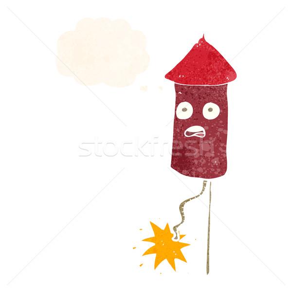 Desenho animado balão de pensamento mão projeto arte Foto stock © lineartestpilot