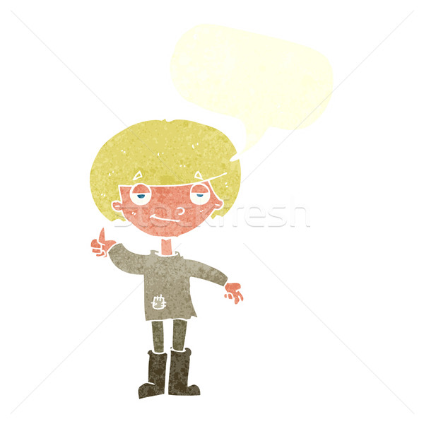 Rajz fiú szegény ruházat remek szimbólum Stock fotó © lineartestpilot