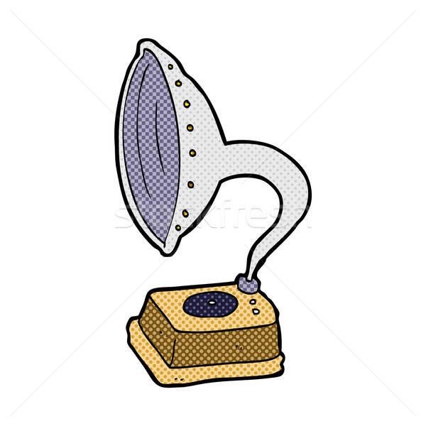 comic cartoon phonograph Stock photo © lineartestpilot