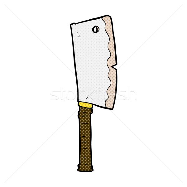 comic cartoon meat cleaver Stock photo © lineartestpilot