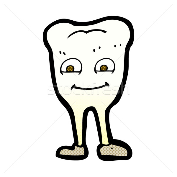 comic cartoon yellowing  tooth Stock photo © lineartestpilot