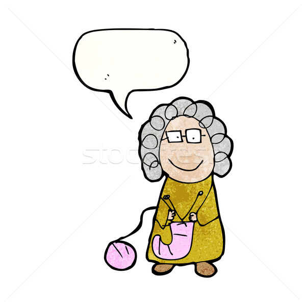 child's drawing of an old woman Stock photo © lineartestpilot