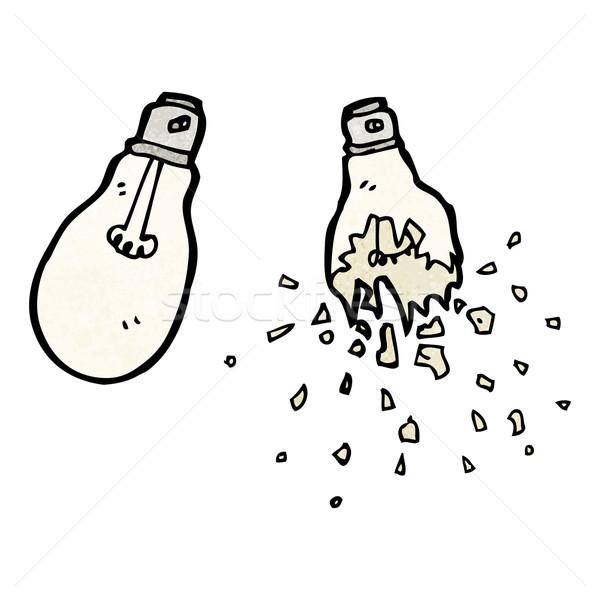 żarówka cartoon świetle podpisania mówić retro Zdjęcia stock © lineartestpilot