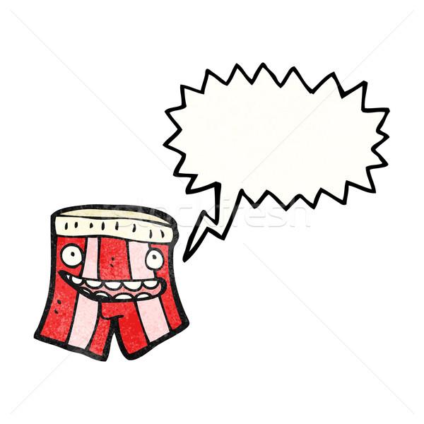 Mówić bokser szorty cartoon sztuki retro Zdjęcia stock © lineartestpilot