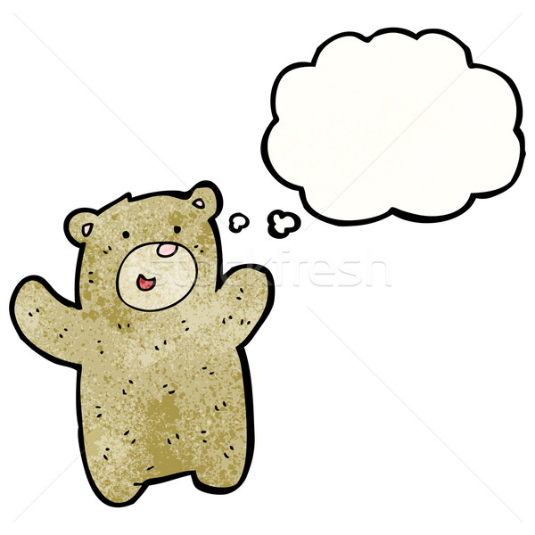 cartoon happy teddy bear Stock photo © lineartestpilot