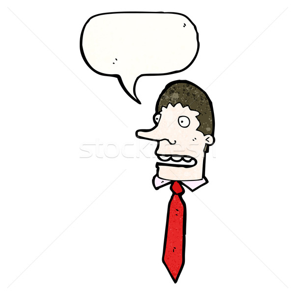 annoying office guy cartoon Stock photo © lineartestpilot