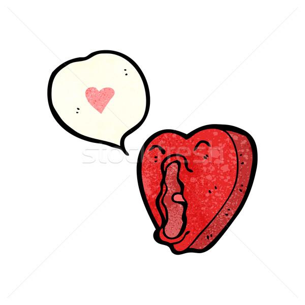 Divertente cartoon amore cuore retro texture Foto d'archivio © lineartestpilot